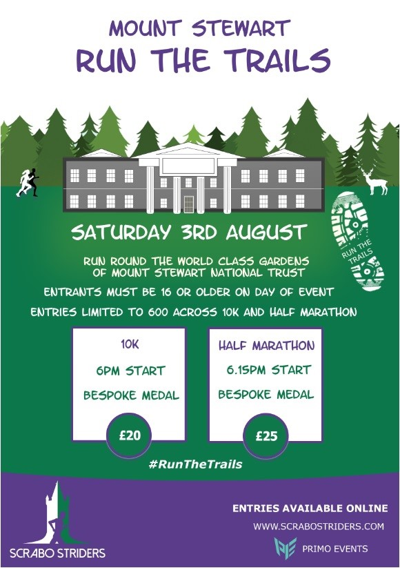 Run The Trails Mount Stewart Half Marathon and 10k