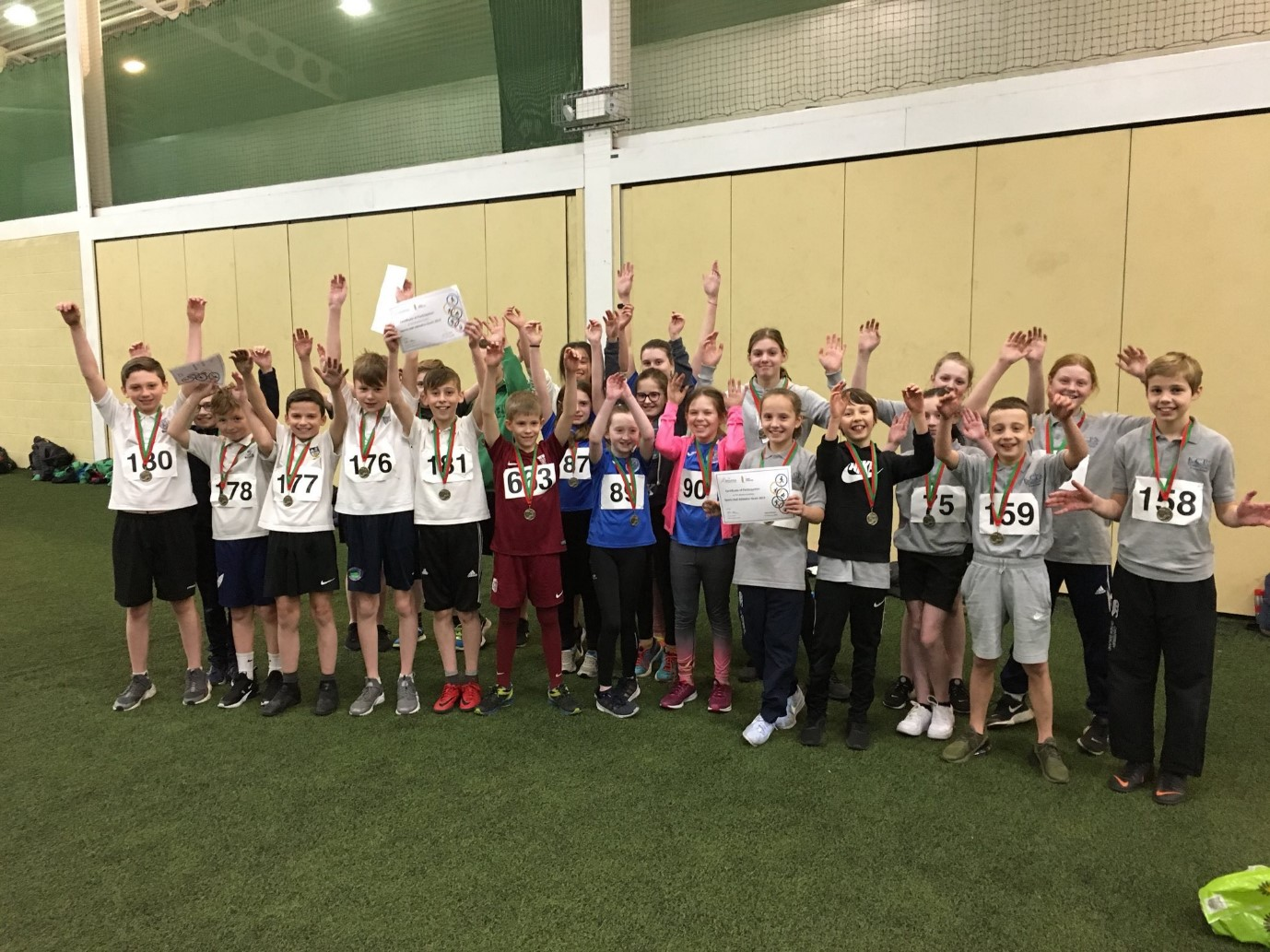 96 Athletes Compete at the Newtownabbey Sports Hall Event