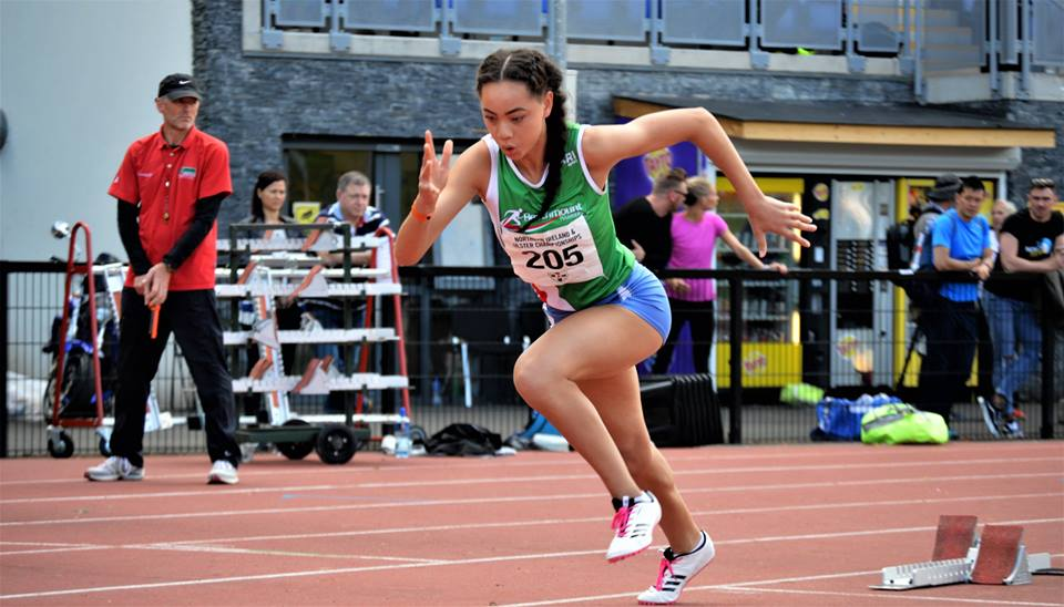 DAVICIA PATTERSON SMASHES IRISH UNDER 20 RECORD IN GERMANY