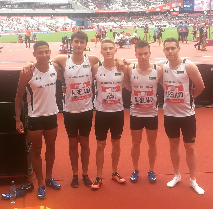 NI Team Break Northern Ireland 4 x 100m Relay Record at Anniversary Games