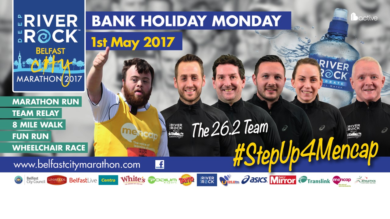 The Experiment 26.2 group are back for the 2017 Deep RiverRock Belfast City Marathon